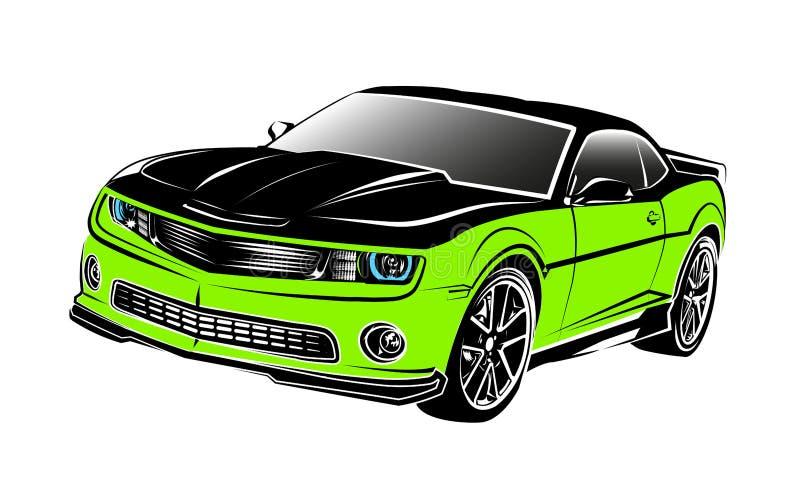 зеленый цвет автомобиля мышцы бесплатная иллюстрация