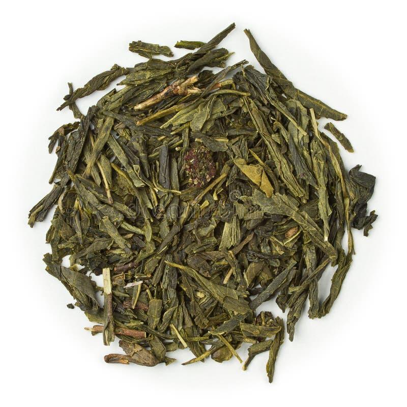 Зеленый цвет вишни зеленого чая стоковая фотография
