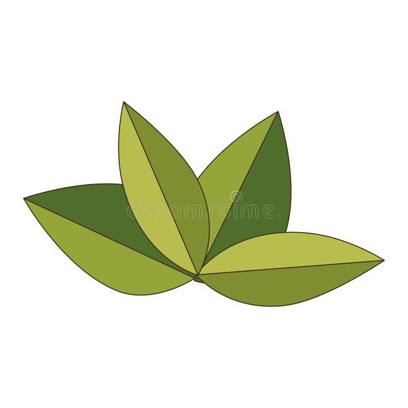 Зеленый цвет выходит эскиз значка завода природы бесплатная иллюстрация