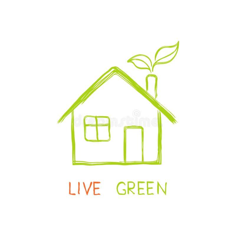 Зеленый цвет в реальном маштабе времени! иллюстрация вектора