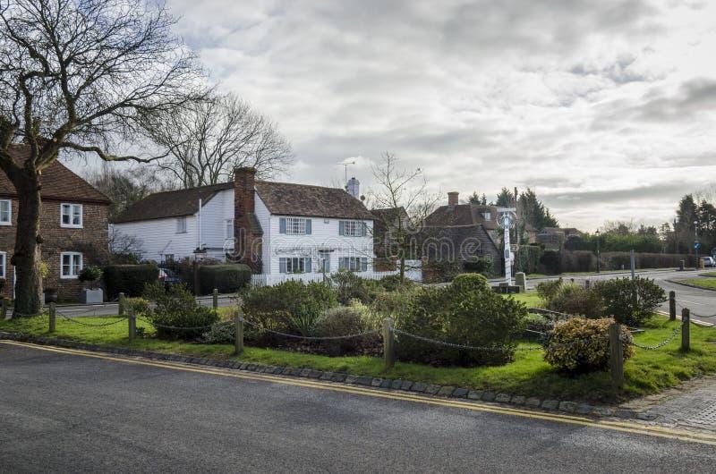 Зеленый цвет деревни Biddenden стоковое изображение rf