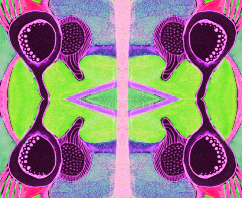 Зеленый цвет картины индийский розовый голубой стоковое изображение