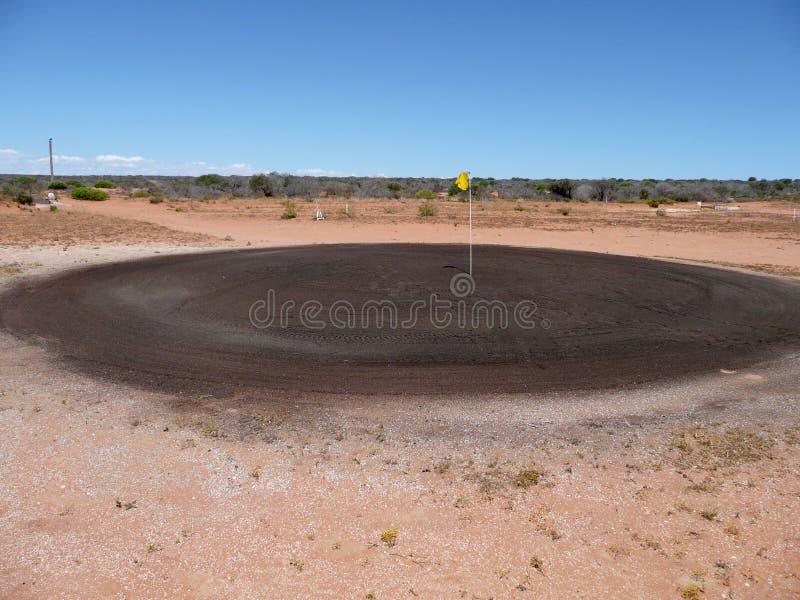Зеленый цвет песка гольфа стоковая фотография rf