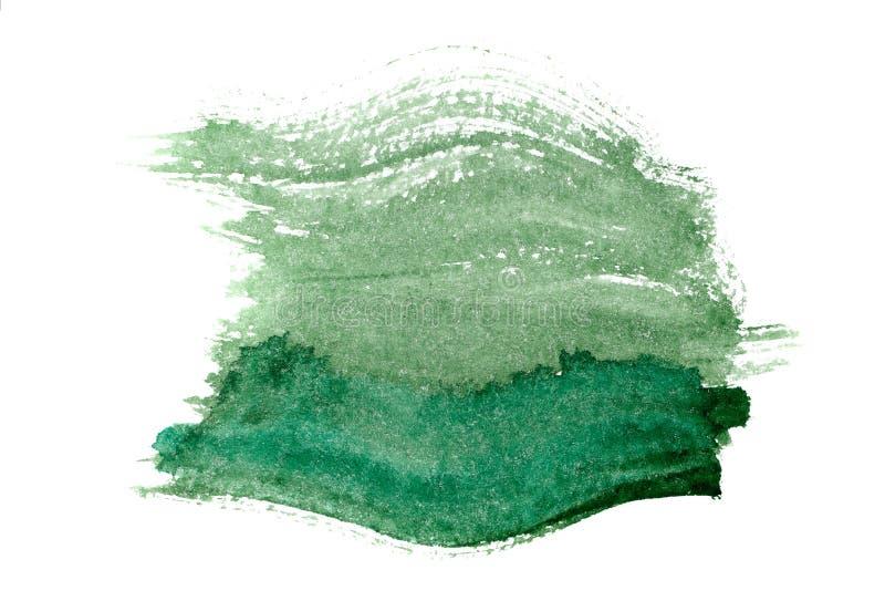 Зеленый цвет предпосылки акварели иллюстрация штока