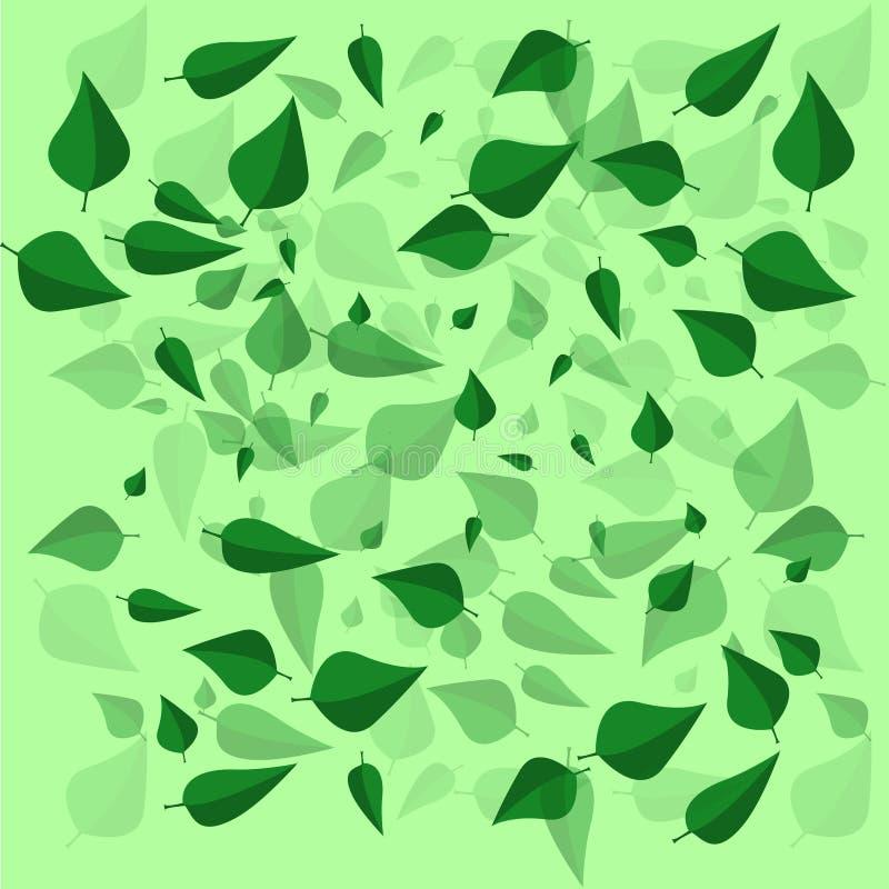зеленый цвет предпосылки выходит безшовной стоковое фото