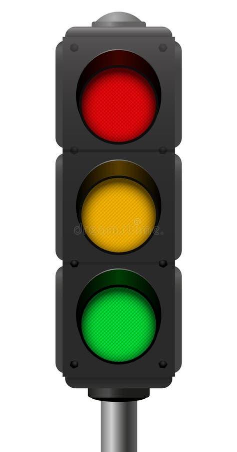 Зеленый цвет светофоров красный оранжевый бесплатная иллюстрация