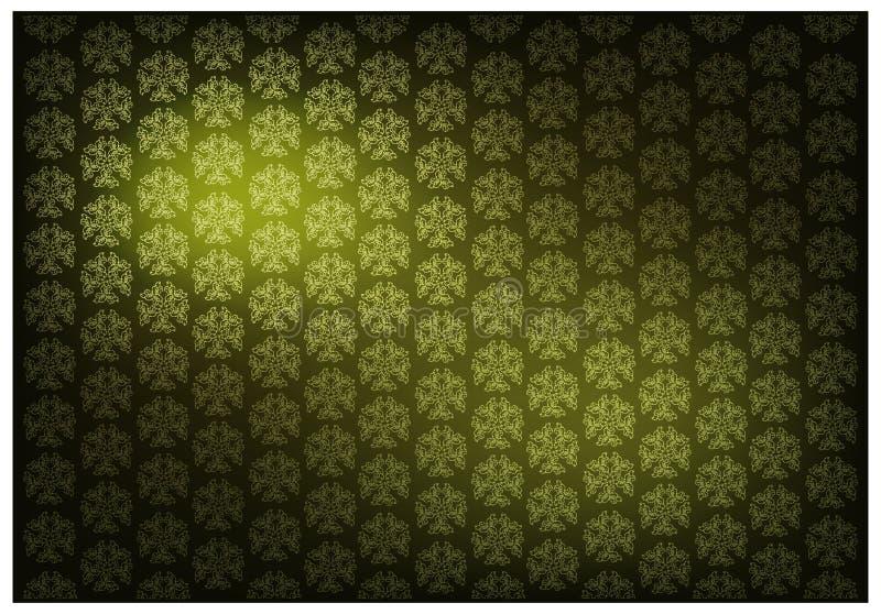 Зеленый цвет тайской винтажной предпосылки картины обоев бесплатная иллюстрация