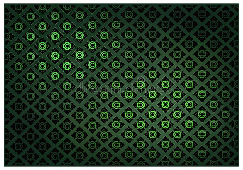 Зеленый цвет тайской винтажной предпосылки картины обоев иллюстрация вектора