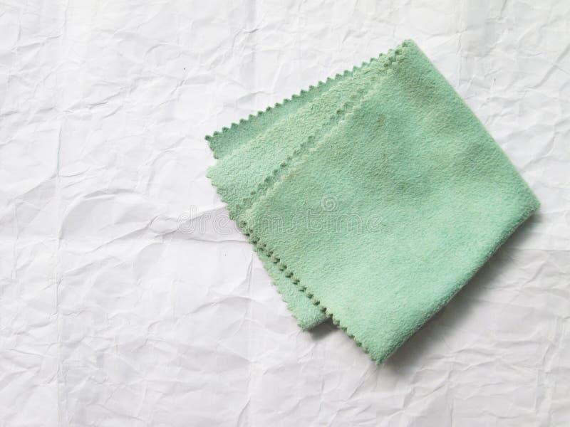 Зеленый цвет ткани Eyeglass стоковые изображения