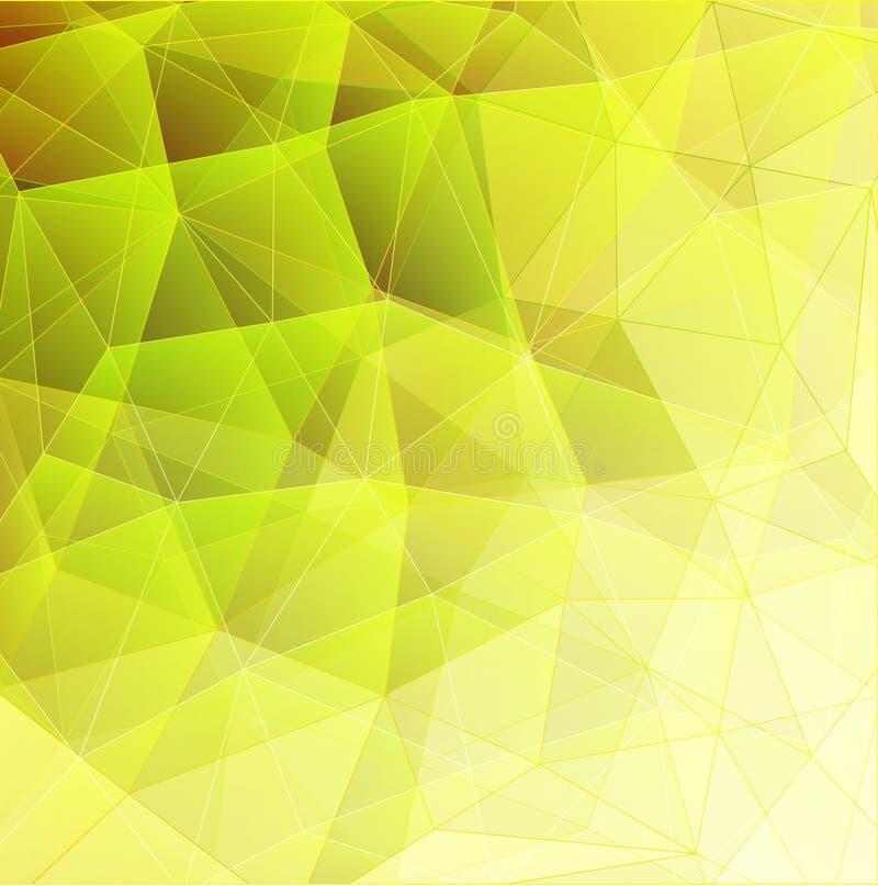 Зеленый цвет 01 треугольника иллюстрация вектора