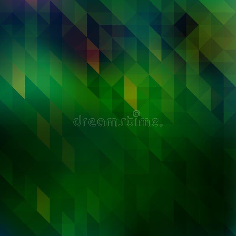 Зеленый цвет треугольника иллюстрация вектора
