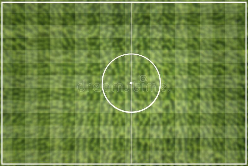 Зеленый цвет футбольного поля решетки стоковые изображения rf
