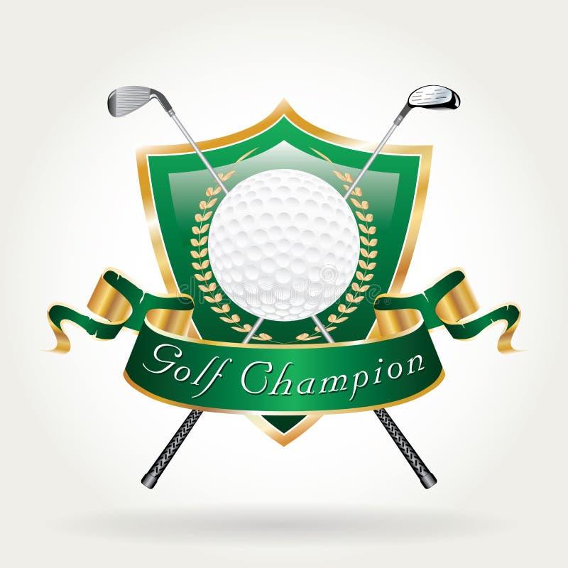 Зеленый цвет чемпиона игрока в гольф иллюстрация вектора