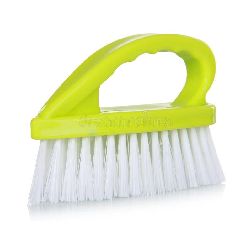 Download зеленый цвет чистки щетки стоковое изображение. изображение насчитывающей housework - 37928677