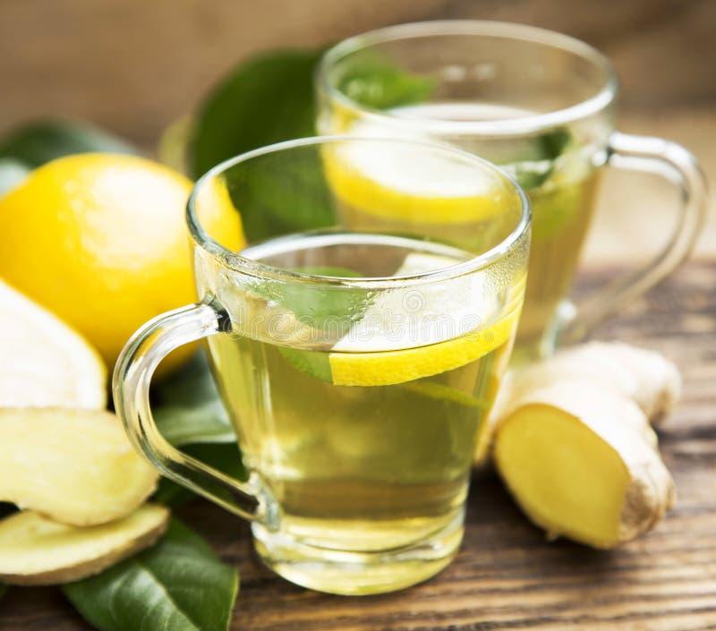зеленый чай лимона стоковая фотография rf