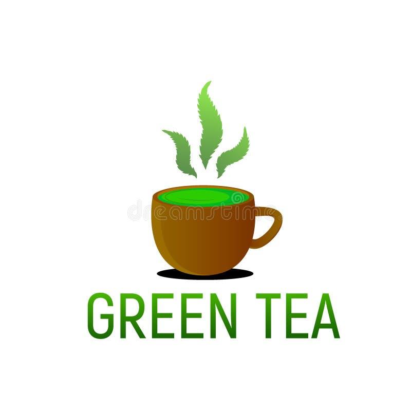 Зеленый чай от пеньки конопли стоковые изображения rf