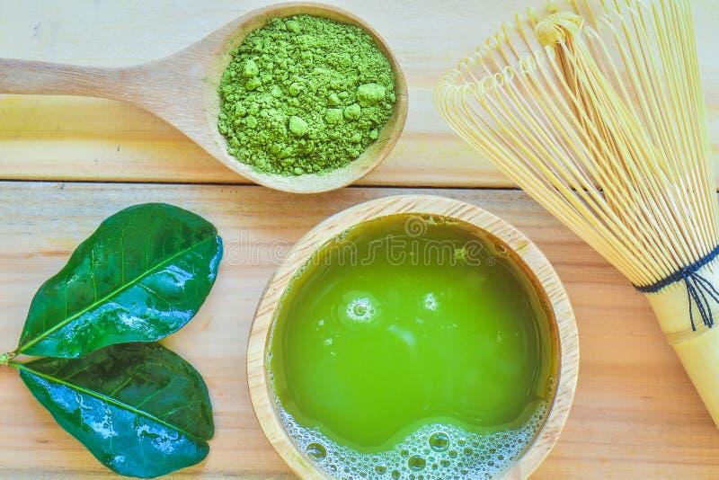 зеленый чай matcha стоковые изображения rf