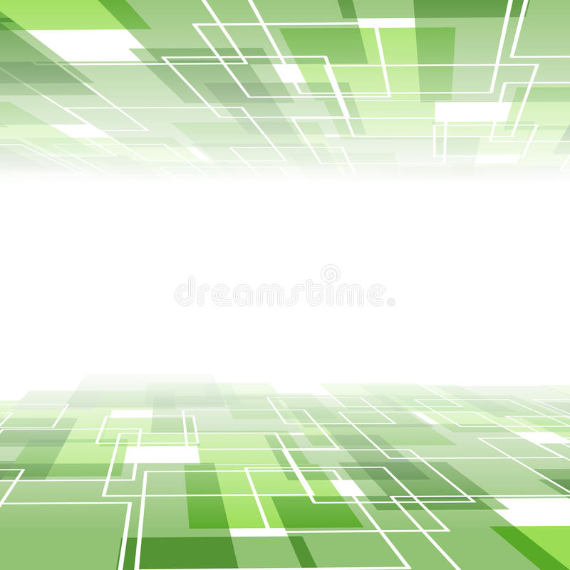 Зеленый шаблон предпосылки плитки - взгляд перспективы иллюстрация штока