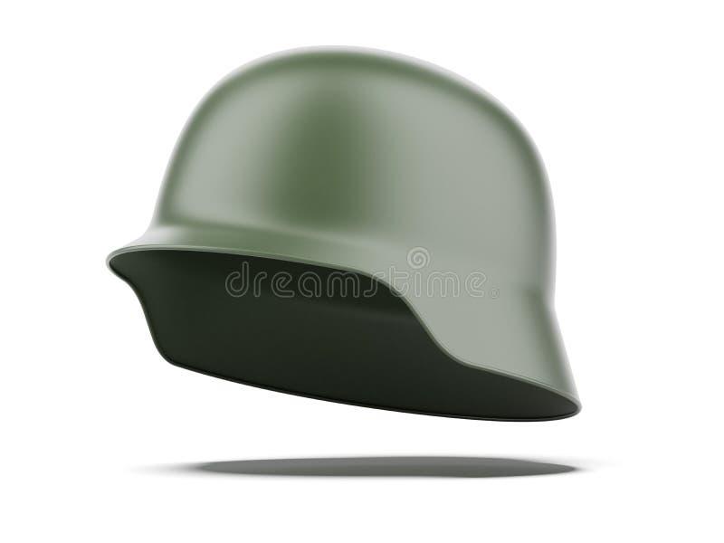 зеленый шлем иллюстрация вектора