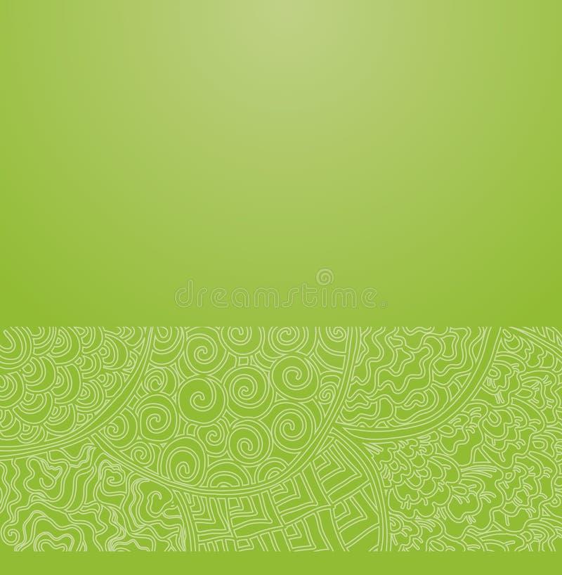 Зеленый японский орнамент бесплатная иллюстрация