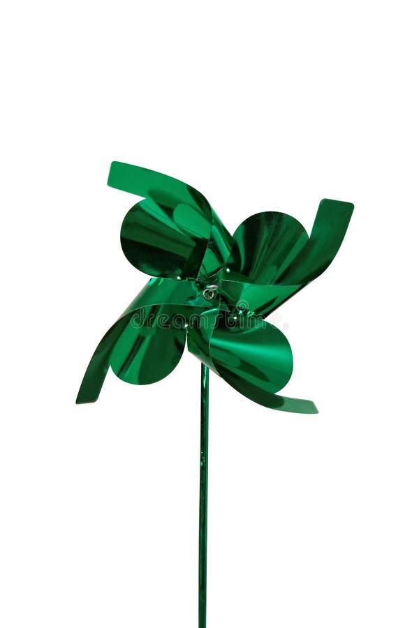 Зеленый pinwheel стоковое фото