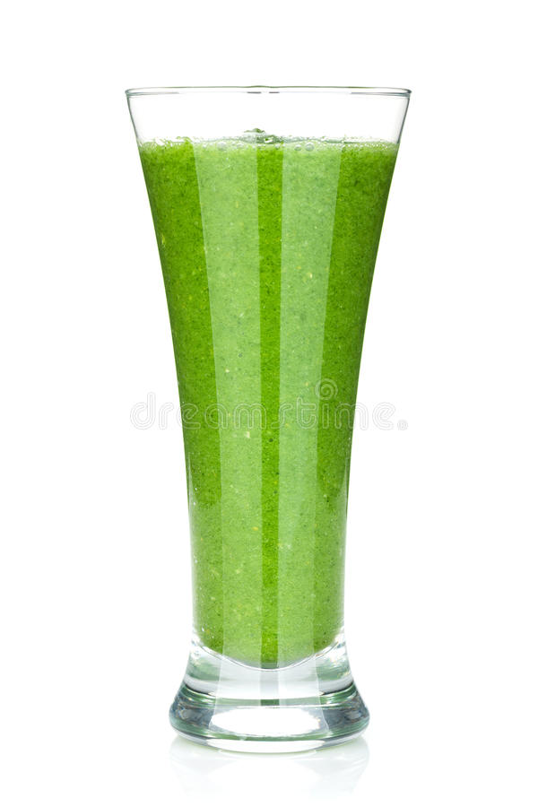 Зеленый vegetable smoothie стоковая фотография rf