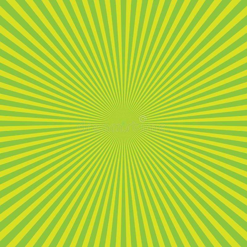 Зелен-желтая предпосылка сигнала цветовой синхронизации световых лучей Предпосылка стиля шаржа и комиксов также вектор иллюстраци иллюстрация штока