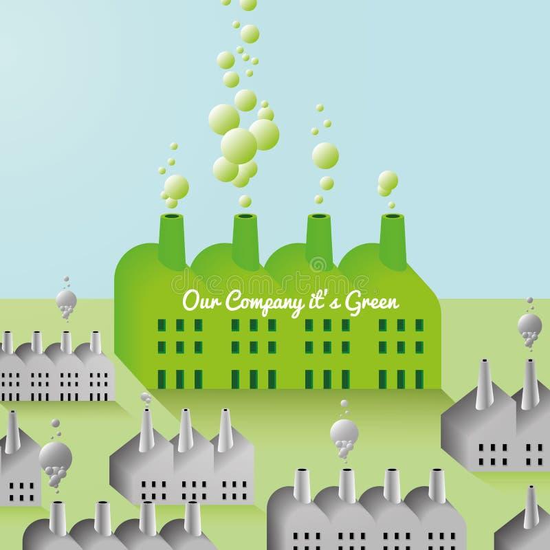 Зелен Компания и предпосылка фабрики абстрактная бесплатная иллюстрация