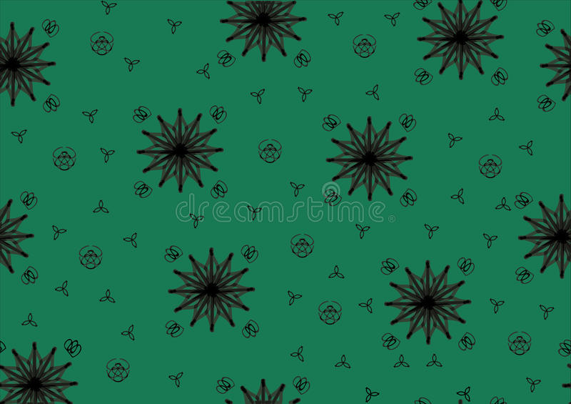 Зелен-предпосылк-с-звезды иллюстрация штока