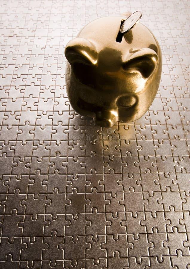 зигзаги банка piggy стоковая фотография rf