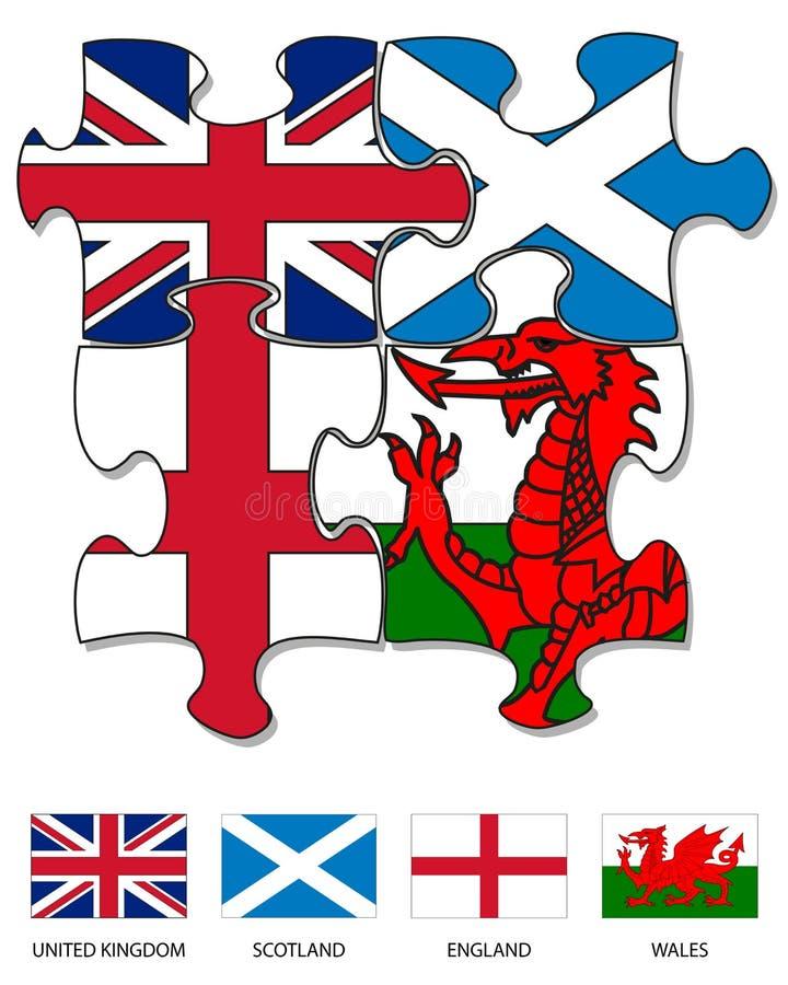 зигзаг Великобритания флага страны 2 иллюстрация вектора