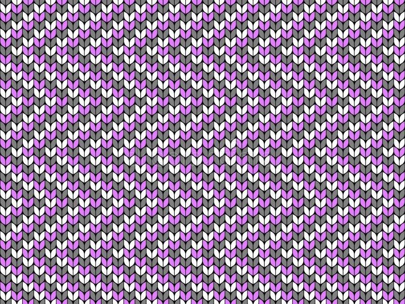 Зигзаг, геометрический фон Безшовная декоративная предпосылка Жаккард соткет Связанная картина иллюстрация вектора