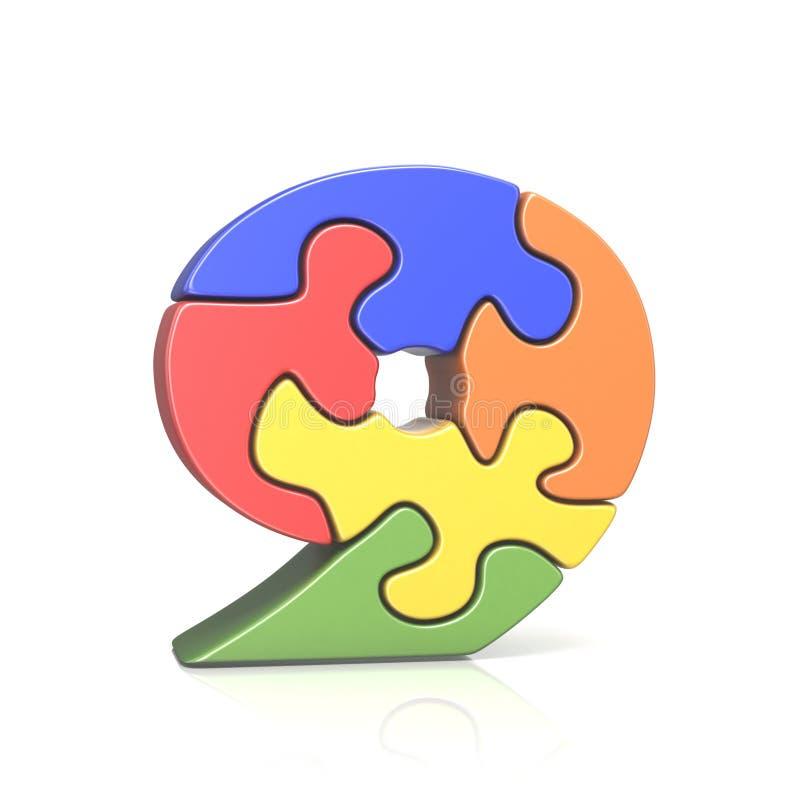 Зигзаг 9 головоломки 9 3D иллюстрация штока