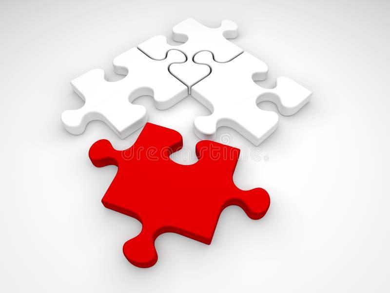 зигзаг соединяет головоломку иллюстрация штока