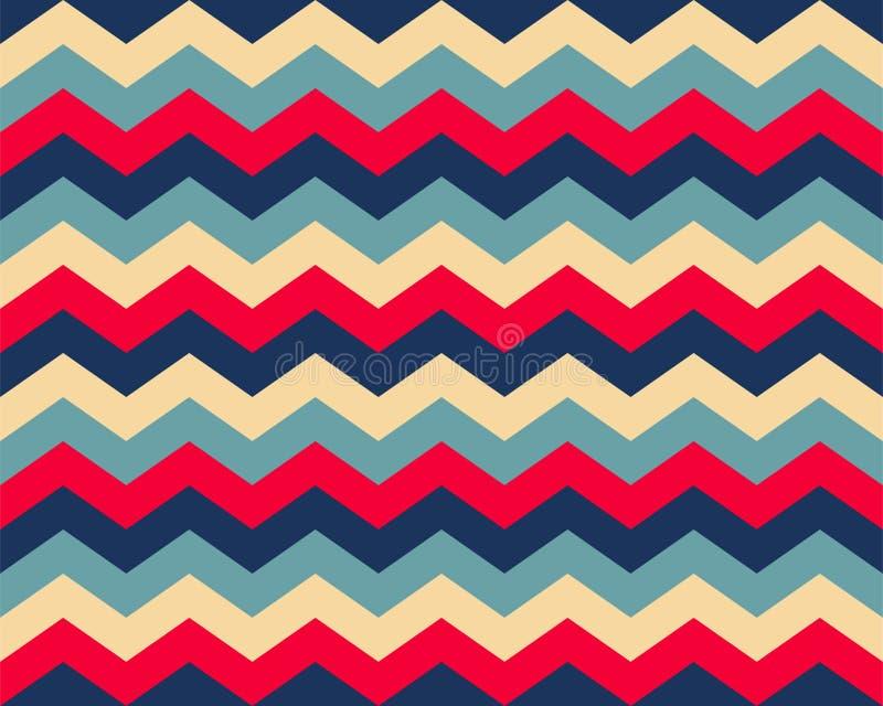 Зигзаг-узор бесшов Цвет фона Zag Zag Абстрактный дизайн вектора иллюстрация штока