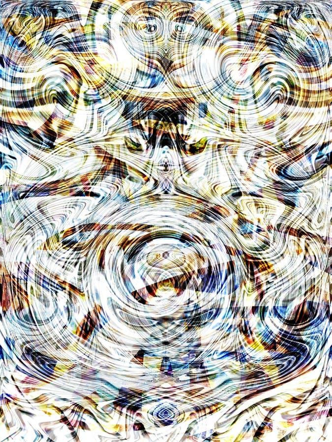 зигзаг 8 волн иллюстрация вектора
