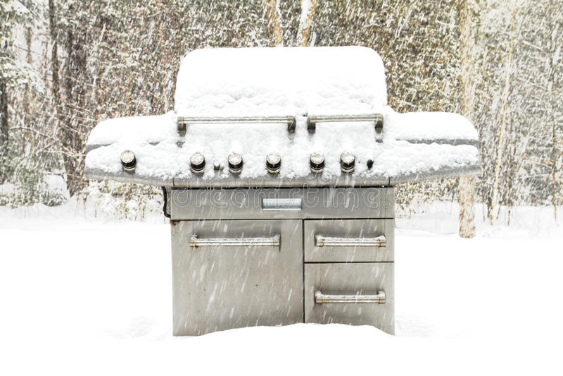 зима барбекю стоковое фото