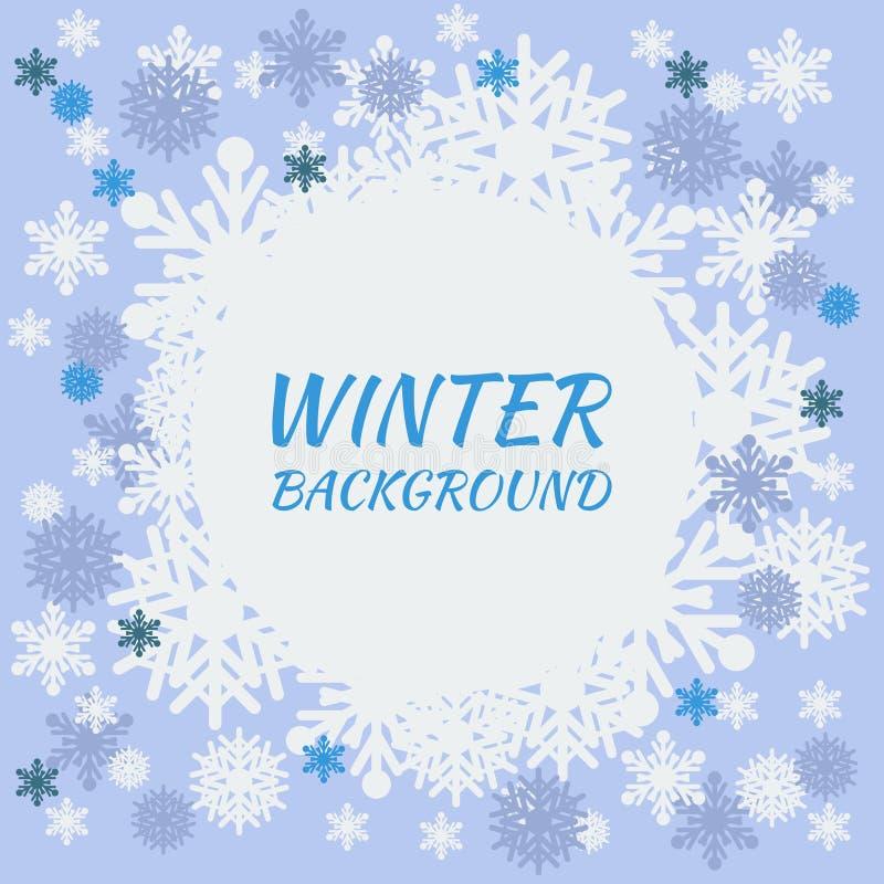 зима белизны снежинок предпосылки голубая бесплатная иллюстрация