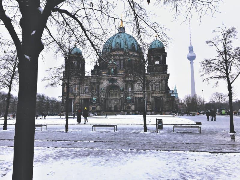 Зима Берлин стоковые фото