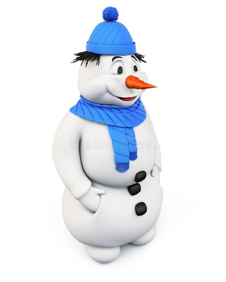 зима белизны снеговика snowball настроения предпосылки красивейшая 3d иллюстрация штока