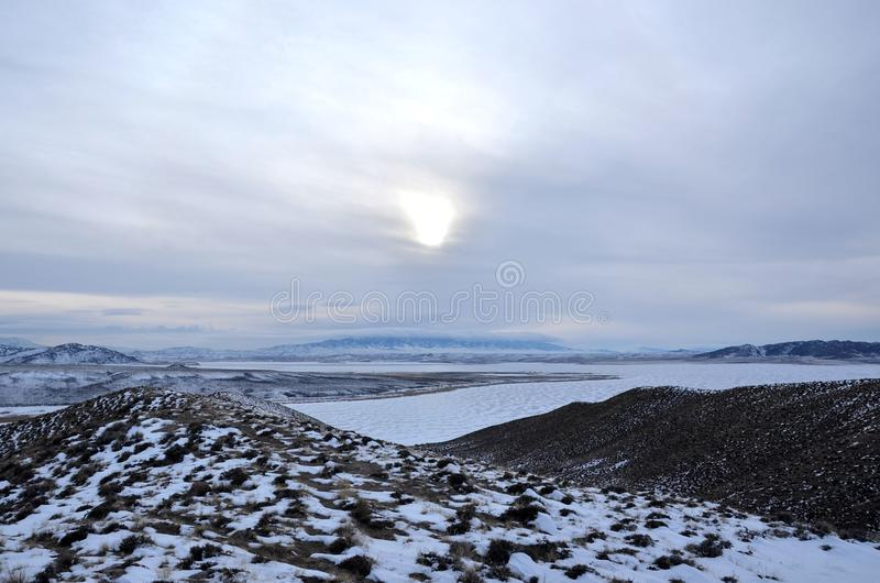 зима Вайоминг стоковая фотография rf
