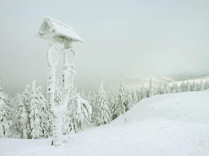 зима валов гор ландшафта снежная стоковые изображения rf