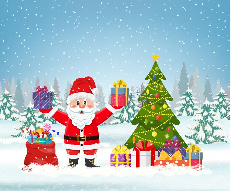 зима валов noel ландшафта рождества бесплатная иллюстрация