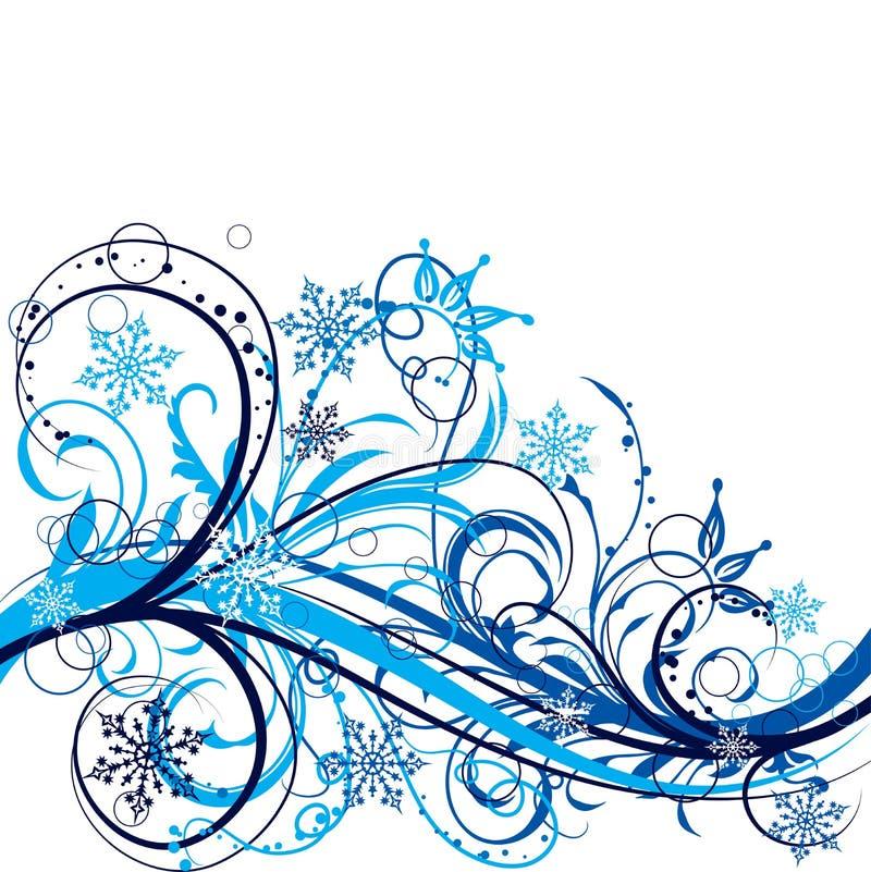 Download зима вектора предпосылки иллюстрация вектора. иллюстрации насчитывающей цветок - 6866477