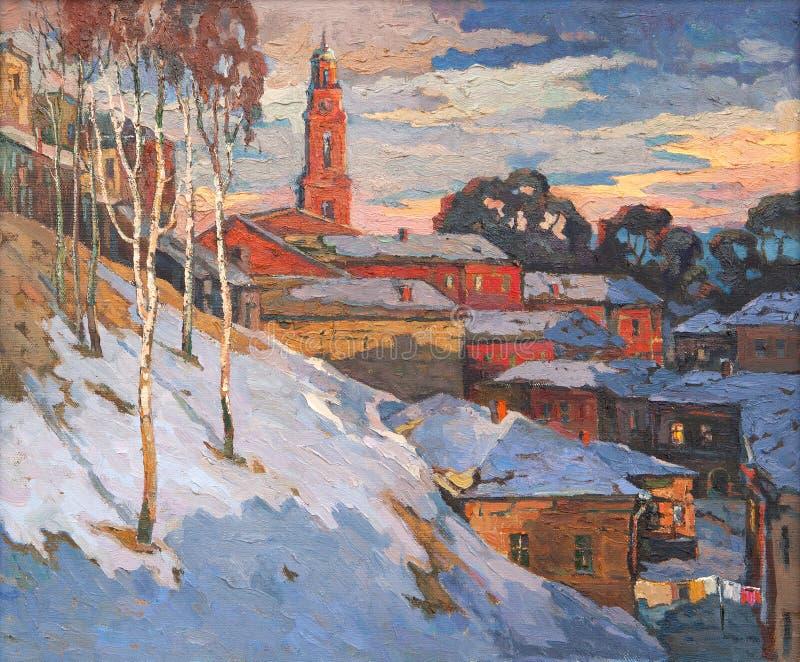 зима вида города бесплатная иллюстрация