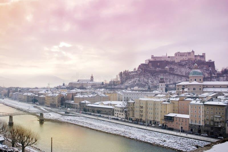 зима восхода солнца salzburg стоковые фото
