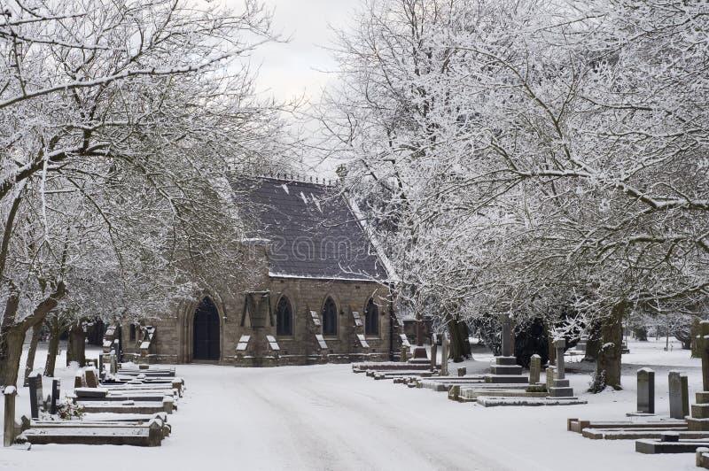 зима времени кладбища стоковые фото
