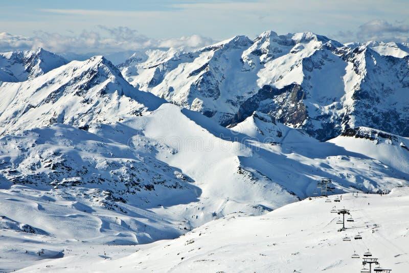 зима высоких гор снежная стоковые изображения
