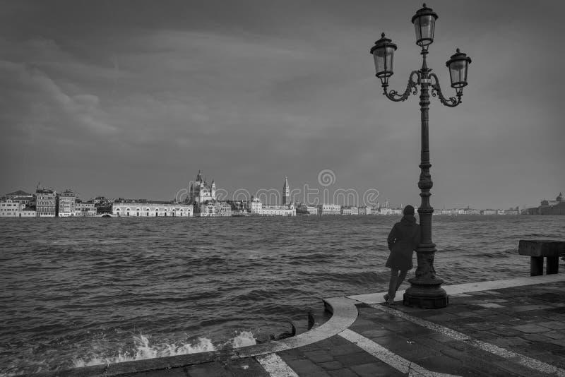 Зима в Венеции, Италии стоковая фотография rf