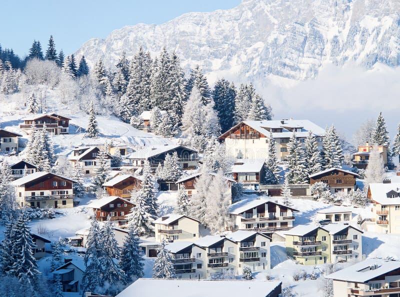 Зима в горных вершинах стоковое фото rf
